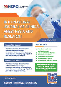 International Journal of Clinical Anesthesia and Research