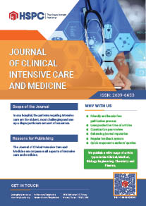 Journal of Clinical Intensive Care and Medicine