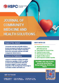 Journal of Community Medicine and Health Solutions